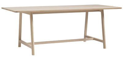Scopri Tavolo Frame -/ L 250 cm, Piano legno / Gambe legno di Hay, Made In Design Italia