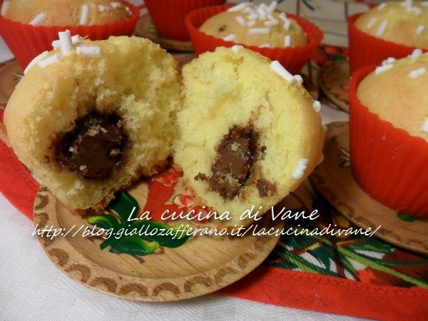 Muffin golosi con cuore di nutella