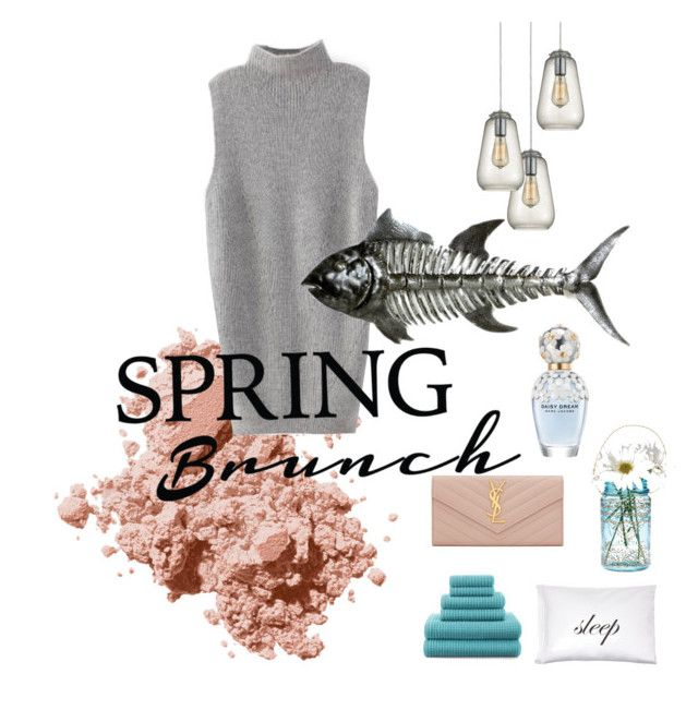 Spring brunch by traversrt on Polyvore featuring polyvore, fashion, style, Yves Saint Laurent, Bobbi Brown Cosmetics, Dot & Bo, Kiki de Montparnasse, JCPenney Home, Cultural Intrigue and Marc Jacobs