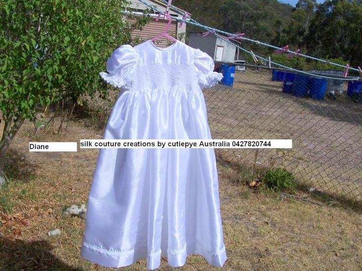 japanese silk smocked gown very light fabric with hand embroidery 6M reduced to sell lined $ 160