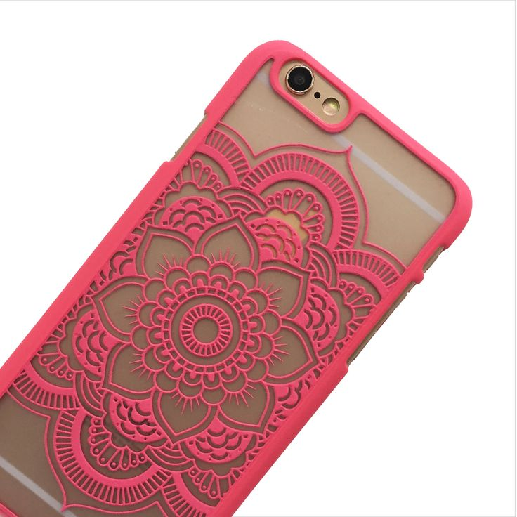 Pink mandala print flower phone case. Favorite shade of pink!