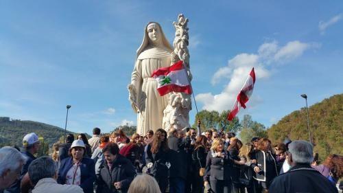 Il monumento di Santa Rita inaugurato a Cascia