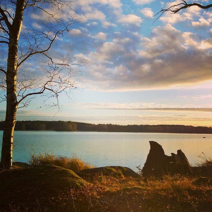 Finland lake landscape
