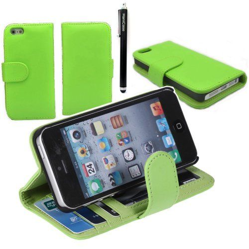 Hanicase Wallet Leather Case Credit ID Card slot Holder Cover Pouch For iPhone 4 4S Green With Hanicase Design Stylus Pen Material:PU leather /Chrome.. 1 Pieces iPhone 4S 4G Wallet Leather case.. PU Leather material to protect your phone hurt from scratches. . Precisely cut openings to allow full access to all the functions of your phone. Soft Inner protect your iphone from scratch   ..  #Hanicase #Wireless