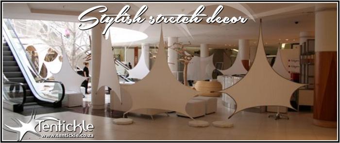 Stylish white stretch decor