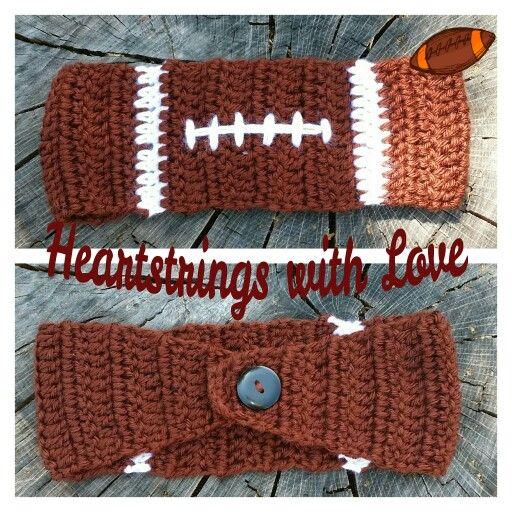 Crocheted Football Headband/Ear Warmer.    https://m.facebook.com/profile.php?id=636695216381969&ref=bookmarks