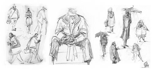 gesture sketches from in and around Glasgow