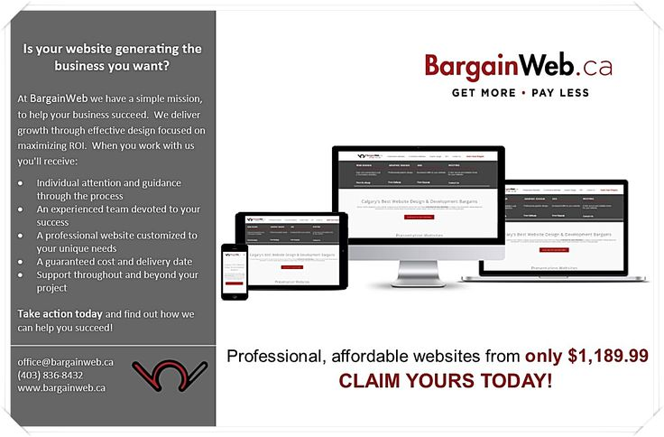 Is your #website generating the traffic you want?#BargainWeb #Affordable #WebsiteDesign #SEO #Marketing #ROI