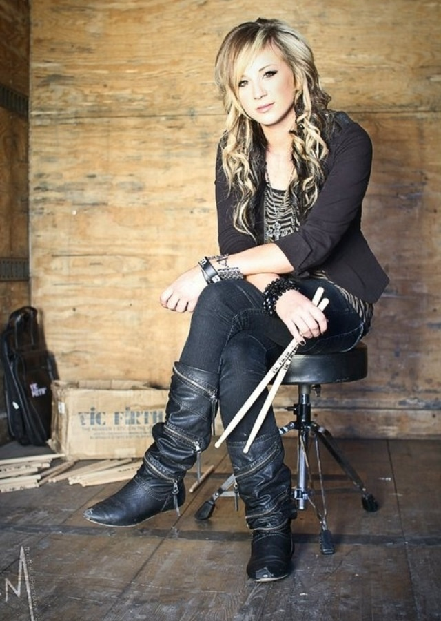 Hoping to learn drums because of Jen Ledger(of Skillet)'s extreme awesomeness.