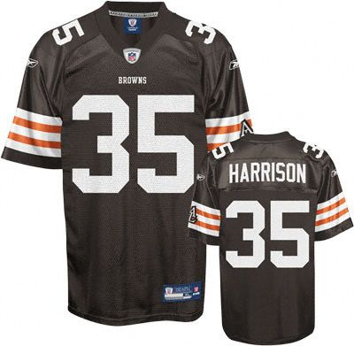 Reebok Cleveland Browns Jerome Harrison 35 Brown Authentic Jersey Sale
