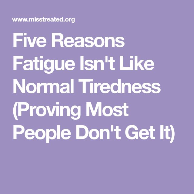 Five Reasons Fatigue Isn't Like Normal Tiredness (Proving Most People Don't Get It)