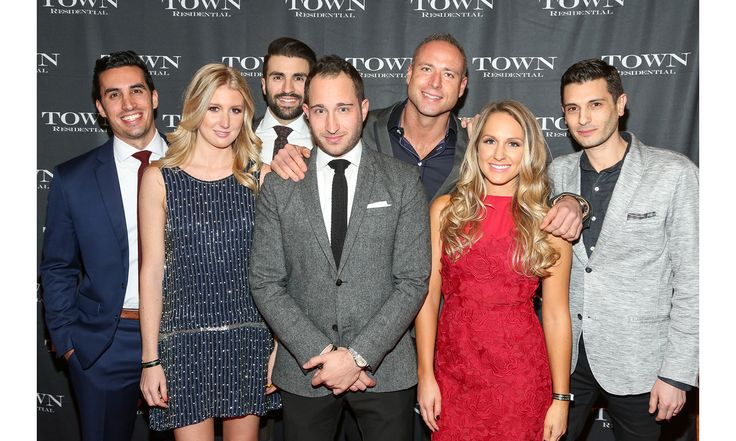 TOWN Residential hosted a 5th anniversary and holiday party at TAO Downtown to celebrate their tremendous successes. Pictured here: Jordan Kramer, Summer Beinhorn, Danny Rodrigues, Martin Newman, Michael Bejzak, Nikki Adamo, Eric Sidman.