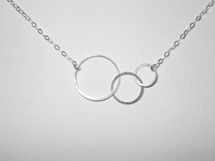 Sterling Silver Triple Circle Necklace by morganprather on Etsy, $23.00