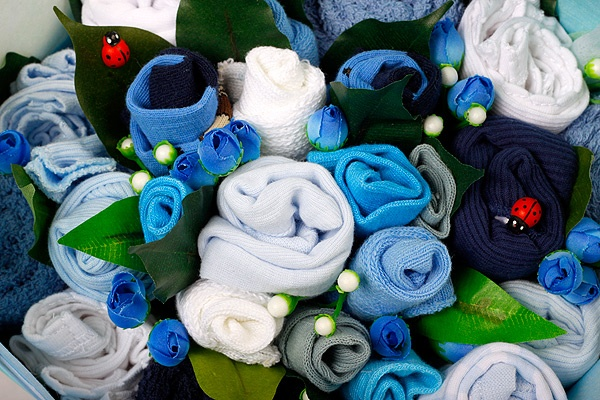 Starlight Blue Big Hearted Bouquet
