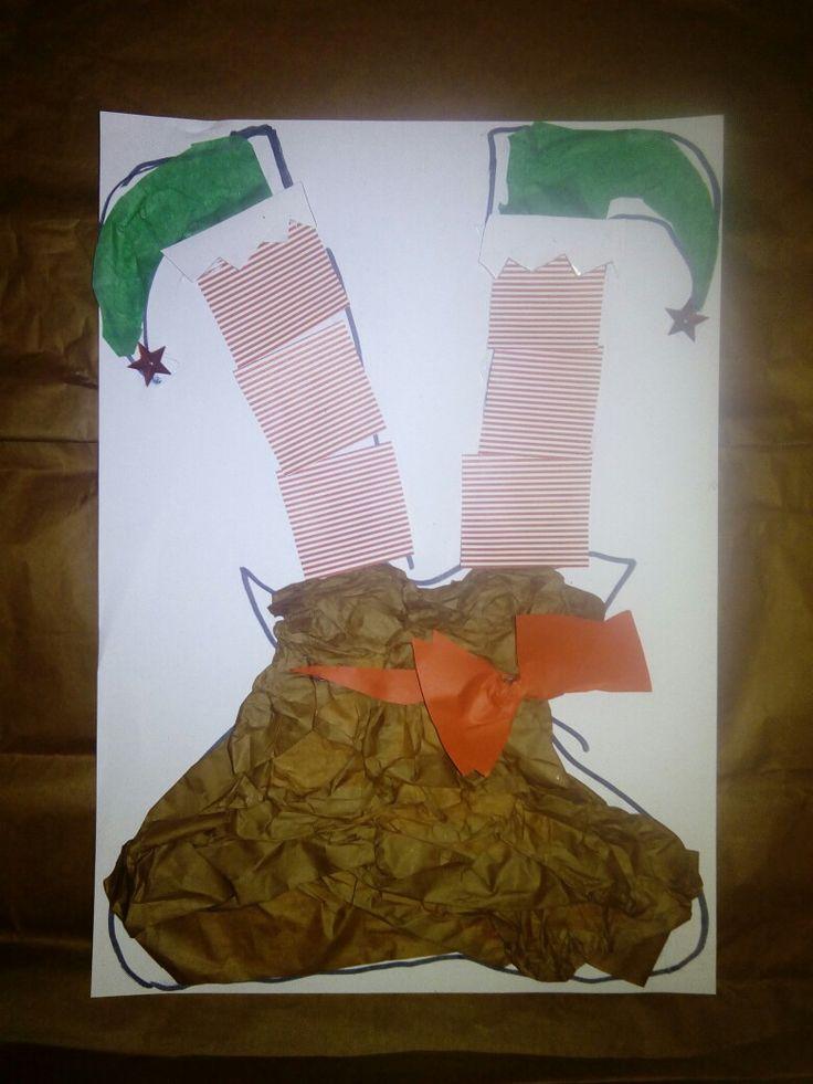 Christmas Elf inside a sack!