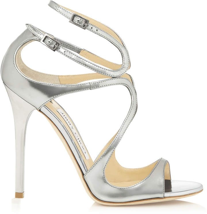8c4760ab289e Jimmy Choo LANCE Silver Mirror Leather Sandals
