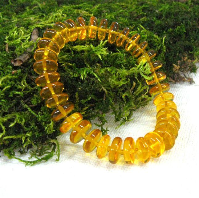 Natural Yellow Amber stone bracelet Baltic amber disc bracelet gemstone gift stretch bracelet sunny yellow rondelle friendship bracelets by SanaGem on Etsy