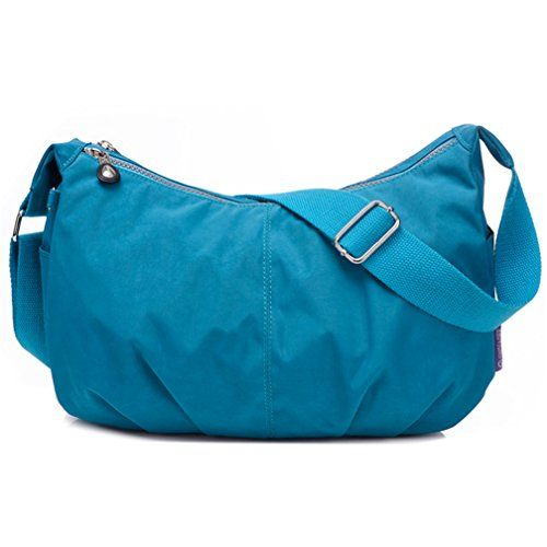 New Trending Make Up Bags: TianHengYi Womens Simple Style Dumpling Shape Nylon Cross-body Shoulder Bag Lightweight Messenger Bag Sea Blue. TianHengYi Women's Simple Style Dumpling Shape Nylon Cross-body Shoulder Bag Lightweight Messenger Bag Sea Blue  Special Offer: $18.55  244 Reviews Characteristics :Material: Nylon Closure: zipperComes with adjustable crossbody strapDimension : 11.8″L X 7.9″H X...