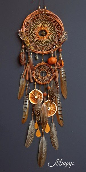 Autumn dream catcher door hanging