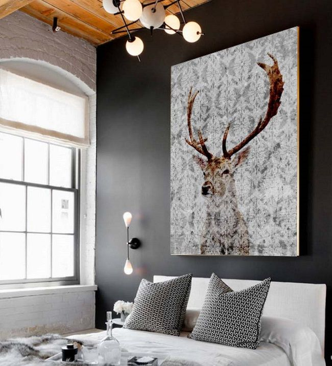 stag wall art, canvas picture