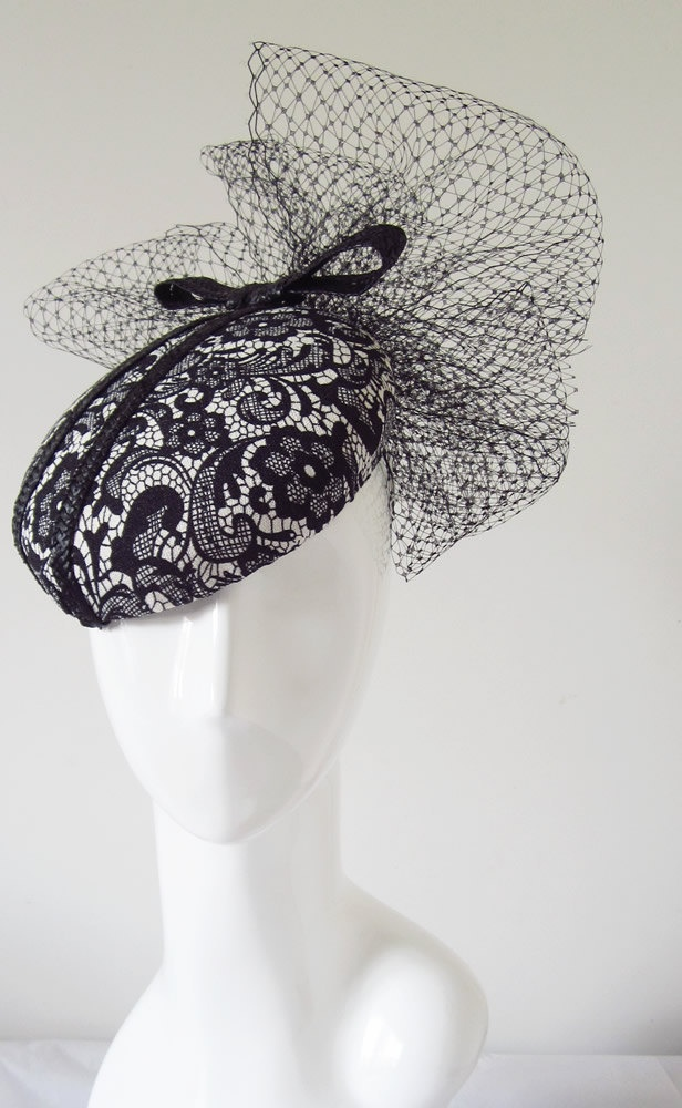 Fascinator Headpiece Wedding Kentucky Derby Ascot Melbourne Cup Race Days Hat MIllinery Bridal Event Fascinators Lace Print Fabric Veiling.