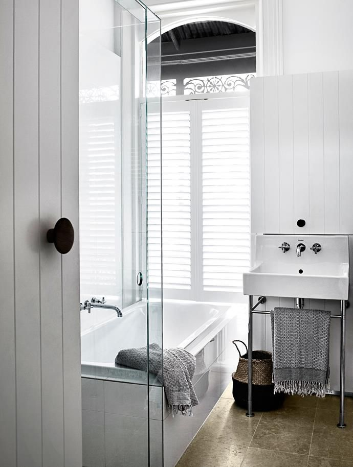 A former box room was given a new lease of life when it was transformed into a beautiful bathroom in this grand Victorian terrace. | Photo: Sharyn Cairns | Story: Belle