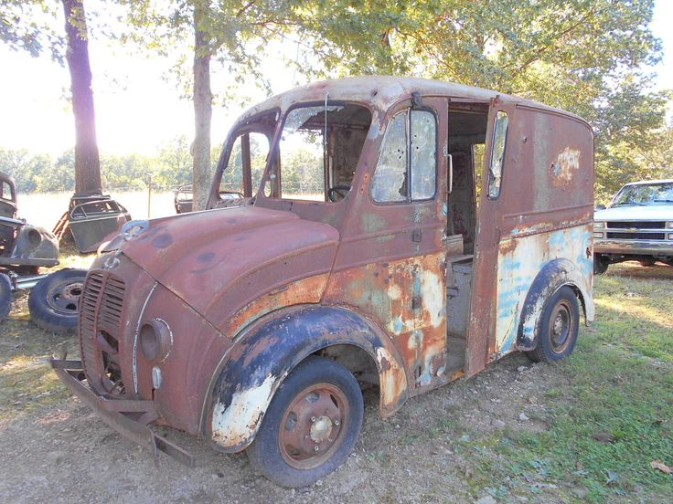 1946 Divco Milk Truck Divco milk trucks Pinterest