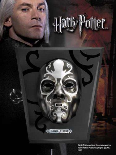 LUCIUS MALFOYS Lifesize Deatheater Mask. Harry Potter Noble Collection Noble Collection http://www.amazon.co.uk/dp/B0012U9F6W/ref=cm_sw_r_pi_dp_Kq94ub08JBSCM