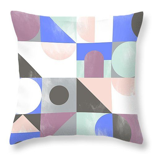 "Toy Blocks Throw Pillow 14"" x 14"""