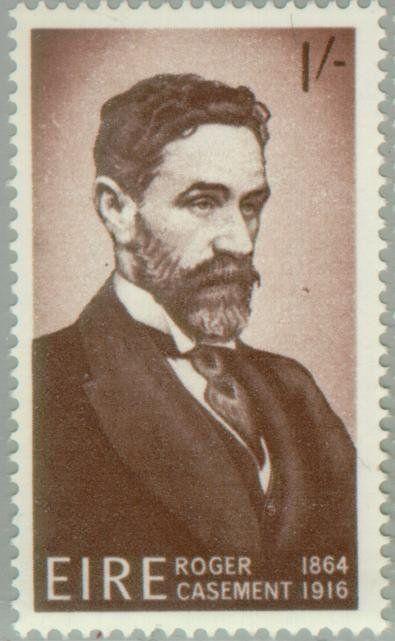 Stamp: Roger Casement 1864-1916 (Ireland) (50th Death Anniv. of Roger Casement (patriot)) Mi:IE 187,Sn:IE 215,Yt:IE 186,Sg:IE 222,AFA:IE 190