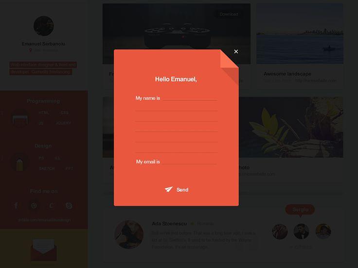 Flat portfolio contact page by Emanuel Serbanoiu