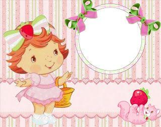 Imprimibles de Strawberry Shortcake Bebé 2.