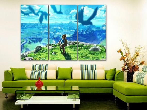 The Legend Of Zelda Canvas Zelda Decor Game Wall Art Video Etsy Gaming Wall Art Kids Canvas Art Game Canvas Art