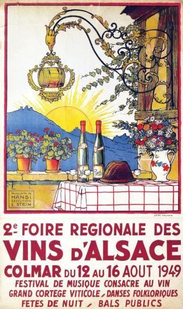 Wine Road, Alsace, France _________________________ #Vintage #Travel #Poster