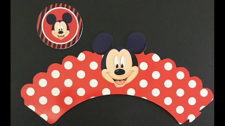 24 pcs set Mickey Mouse (12)Cupcake Wrappers And (12)Toppers #BirthdayChild