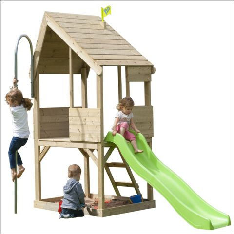 Kids will have a great challenge by playing with this two storey playhouse jam sold at TP Toys for just £349.98.