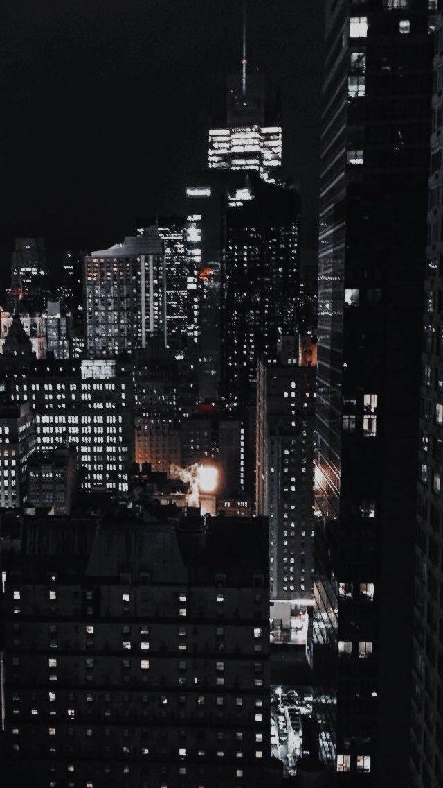 Astheticwallpaperiphoneblack City Lights Wallpaper City Wallpaper Aesthetic Wallpapers