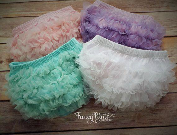 Baby Bloomer, Ruffled Diaper cover, Newborn bloomer, chiffon ruffle bloomer, ruffle panties,cake smash, photo prop, newborn photo prop