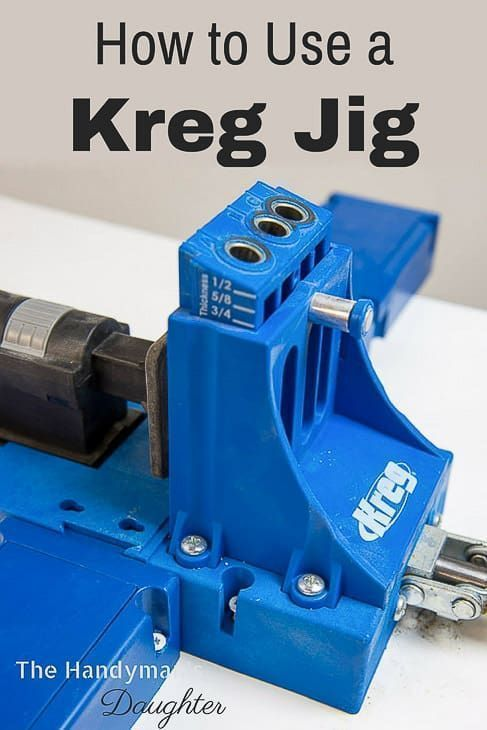 DIY Woodworking Ideas Want to learn how to use a Kreg Jig? This tutorial shows you how to use the two ...