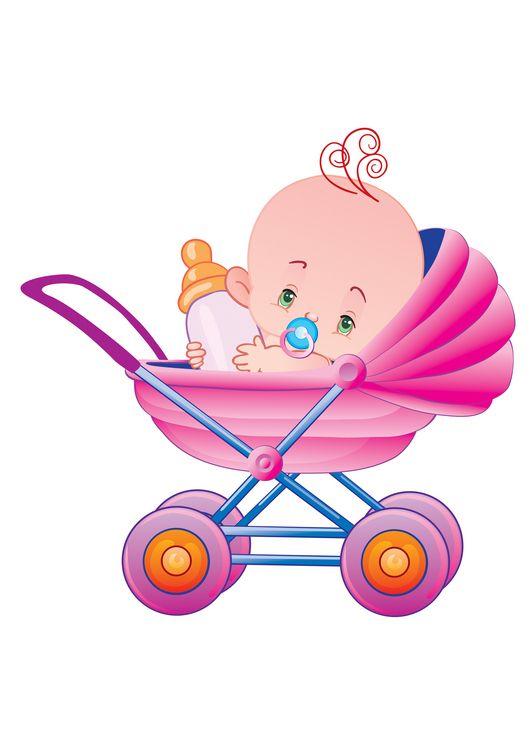 Открытка ребенка в коляске