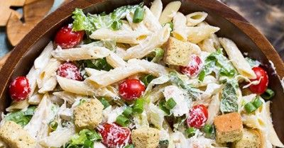Pasta Salad with Caesar Sauce