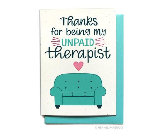 Funny Thank You Card For Friend Thanks For Being My Unpaid Etsy In 2021 Funny Thank You Cards Funny Thank You Friendship Cards