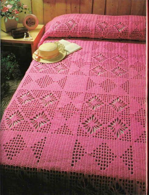 As Receitas de Crochê: Colcha de crochê - gráfico