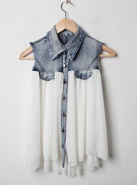 Prudence and Austere: DIY Inspiration: Denim Shirt