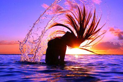 : Pink Summer, Mermaids Hair, Real Life, Hair Flip, The Ocean, Hairflip, Hair Care, Mermaids Style, The Little Mermaids