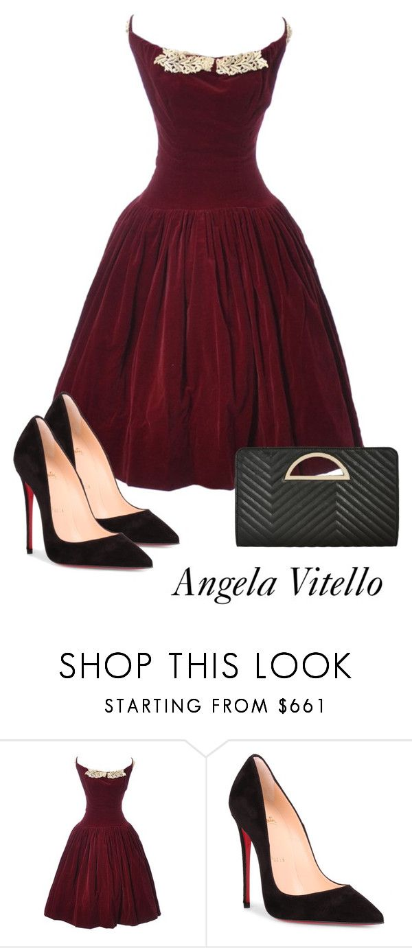 """Untitled #1106"" by angela-vitello on Polyvore featuring Christian Louboutin and Ashley Stewart"