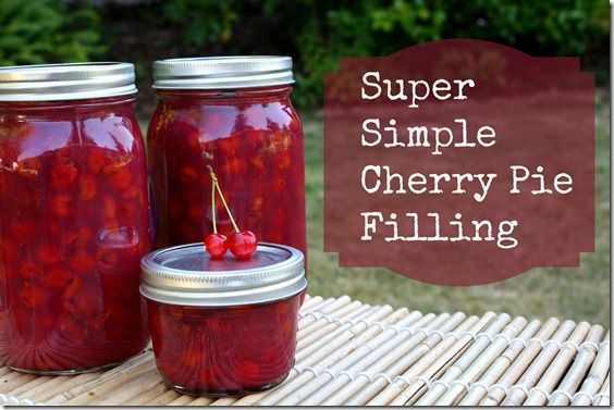 Cherry pie filling- it's cherry picking season!!