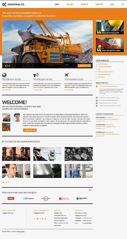 Bootstrap Cherry Framework Responsive WordPress Theme 45160