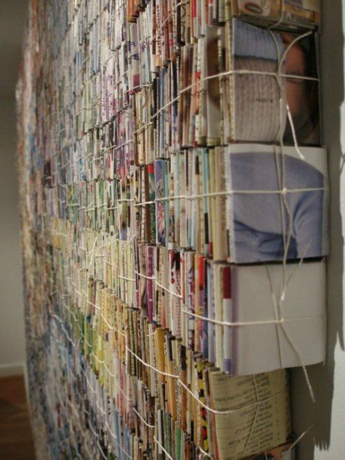 Amanda Nelson collected 40,000 pieces of junk mail, folded and bundled them together. Here's an article on how to stop receiving junk mail,