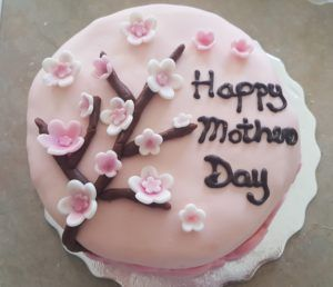 Cherry Blossom Mother's Day Cake
